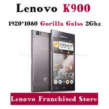 Original Lenovo K900 5.5'' 1920x1080p Gorilla Glass 2GB RAM 13mp Intel Atom Dual Core Phone Android 4.2 Russian Multi Language(China (Mainland))