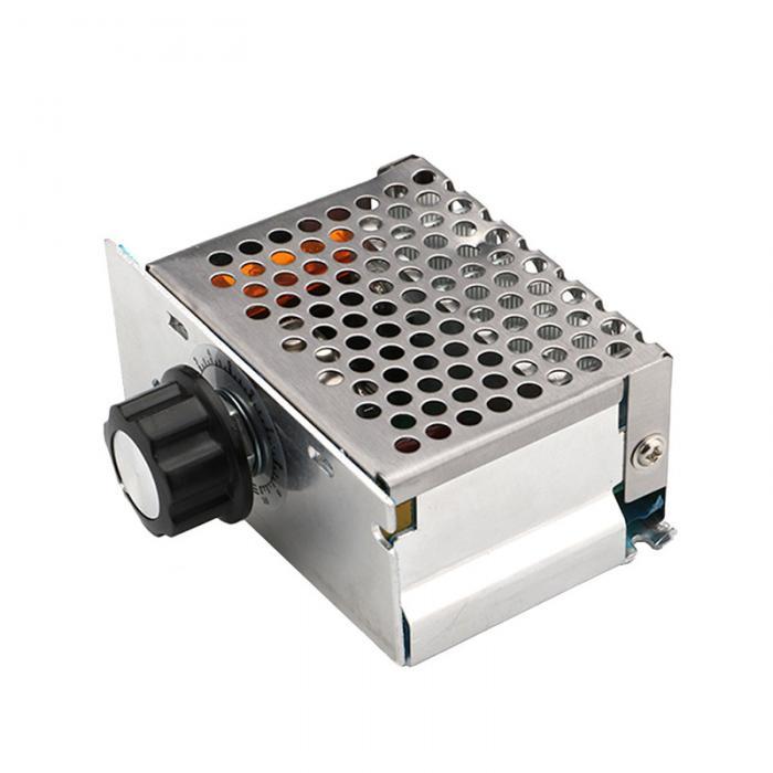 Professional Voltage Regulators 4000W 220V High Power SCR Speed Controller Electronic Voltage Regulator Governor Thermostat  HR