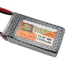 Original ZOP Power Lipo Batterie 11,1 V 1500 mAh 3 S 40C MAX 60C T Stecker für rc Auto Flugzeug Hubschrauber Tropfen Kostenloser Versand(China (Mainland))