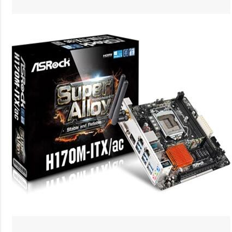 ASRock H170M-ITX / AC dual network card mini ITX motherboard 17 * 17 WIFI(China (Mainland))