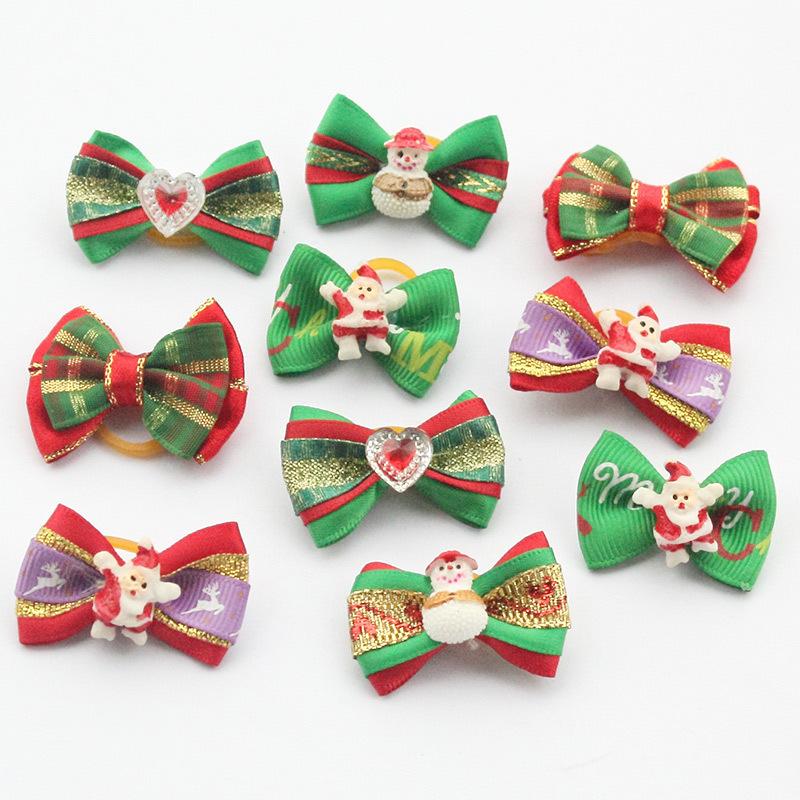 100 Unids/lote tienda Armi Handmade Perros Grooming Arcos Arco Festival de Navidad Para Perros