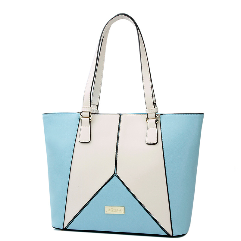 Fashion New Style Patchwork Women Shoulder Bags Female PU Leather Casual Tote Soft Ladies Handbags 4EH01031(China (Mainland))