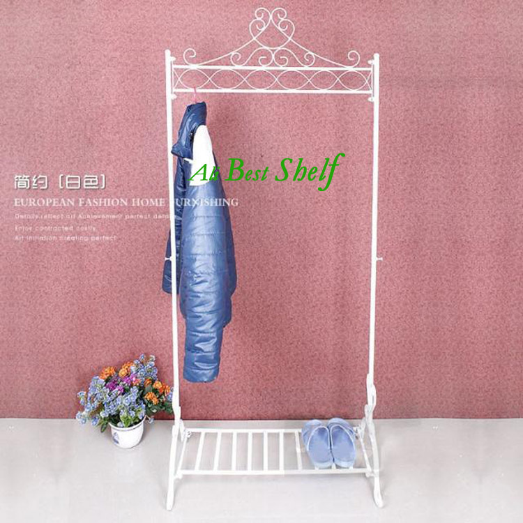 New 2013 modern flower shelf clothes hanger shoe storage two color home storage metal rack hanging storage used in bedroom(China (Mainland))