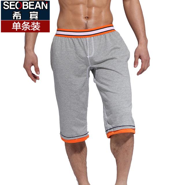 Seobean мужчины спортивные брюки главная 100% хлопок тонкий длиной до колен брюки ...