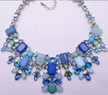 XG336 2015 Hot Statement Choker Necklace Brand Za Vintage Flower Bib Multicolor Fashion Necklaces Pendants Collar