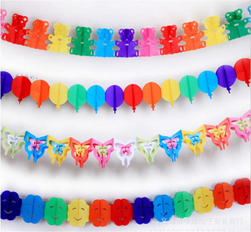 Fiesta de cumplea os de guirnaldas de papel colorful for Guirnaldas para fiestas infantiles
