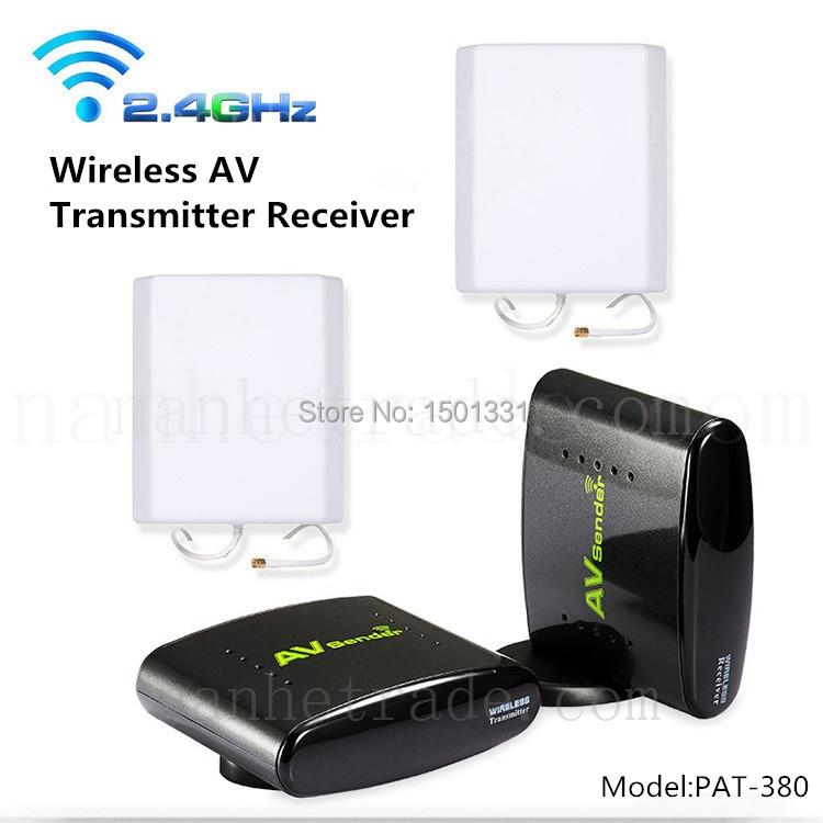 PAT-380 2.4G 700m Wireless Digital STB AV Transmitter and Receiver Support DVD IPTV CCTV Satellite EU US UK AU Plug for PAT380(China (Mainland))