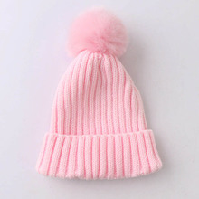 Winter Autumn Warm Children Hat For Baby Boy Girl Cap with Pompom Ball Beanies Soft Knitted Crochet Caps(China)