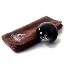 Free Shipping BC003 1pcs Cuesoul Durable Pro Cup Resin 2 1/4 6oz Billiard Snooker Pool Table Black 8 Ball  With Clean Cue Towel(China (Mainland))