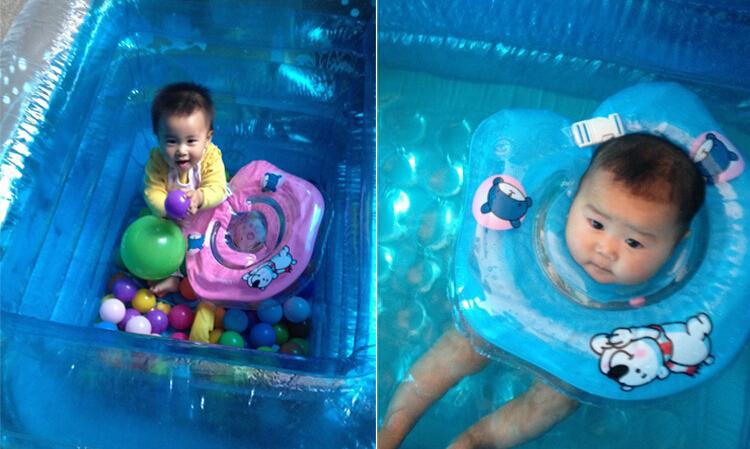 Baby Swim Ring Adjustable double protection swimming laps Baby neck ring Lifebuoy(China (Mainland))