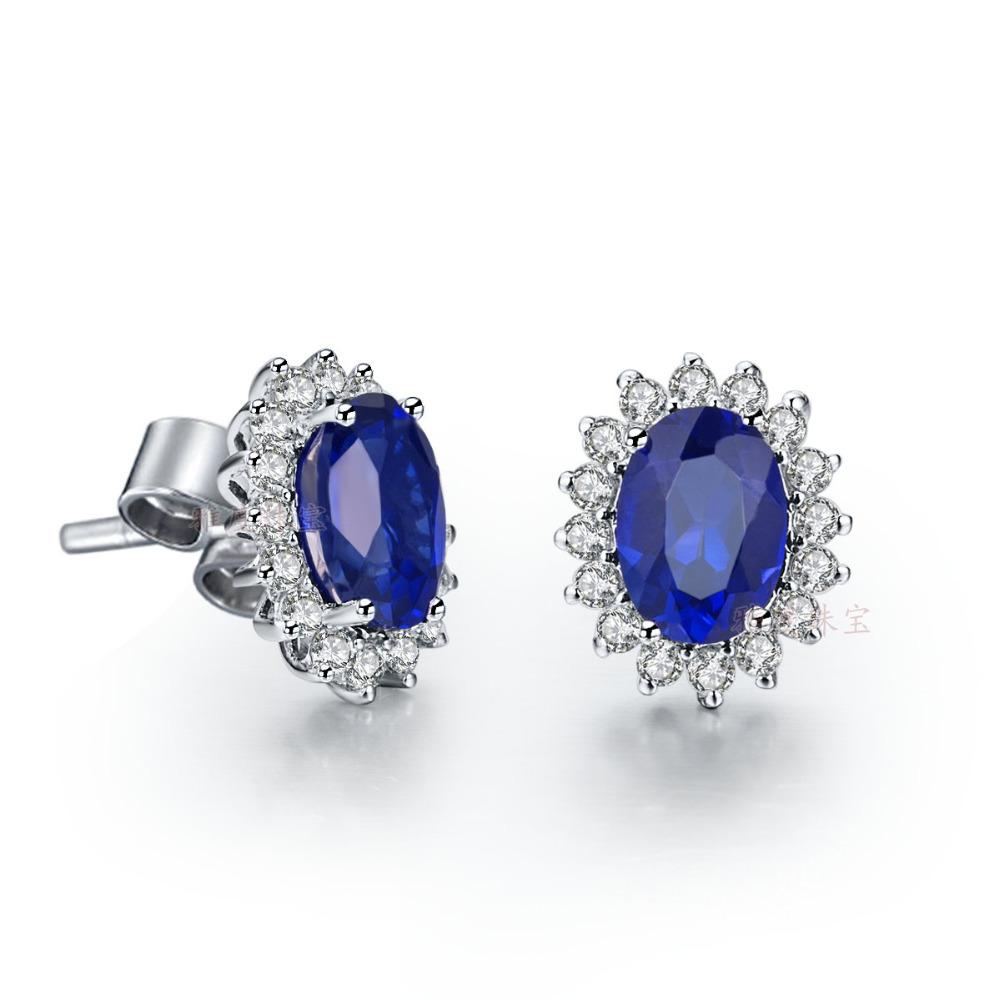 Oval Diamond Earrings Studs Diamond Stud Earrings For