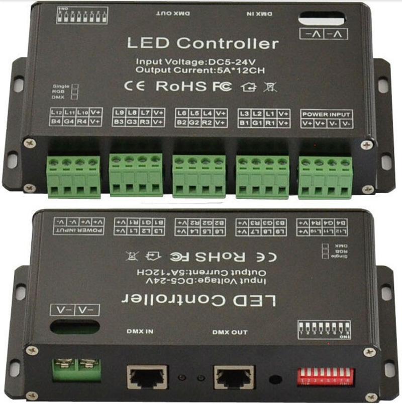 DC5V-24V 12Channel RGB DMX LED controller DMX decoder&driver LED strip module(China (Mainland))