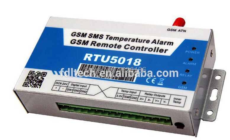 RTU5018 Freeshipping by DHL GSM SMS Controller ,GSM SMS Temperature Alarm Controller,no distance limitation,No call charges<br><br>Aliexpress
