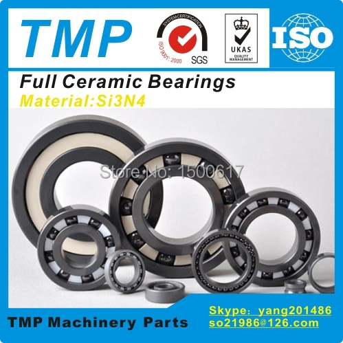 6204CE Full Ceramic Bearing (20x47x14mm) Si3N4 material Deep Groove Ball Bearing Anti friction bearings For Medical Devices(China (Mainland))