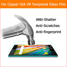 Buy Ultra-thin 0.26mm 9H Anti-shatter Tempered Glass film Casper VIA V9 Explosion-proof screen protector protective HD LCD films for $6.17 in AliExpress store