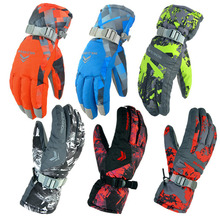 Men Women Ski Gloves Winter Waterproof Anti-Cold Warm Gloves Outdoor Sport Snow Sportswear Skiing Gloves luvas free shipping(China (Mainland))