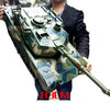 RC Tank Large size:83*30*25cm 1:6 scale US M1A2 remote control tank 6x channel model tanks Big size Gift Child toys baby toy(China (Mainland))