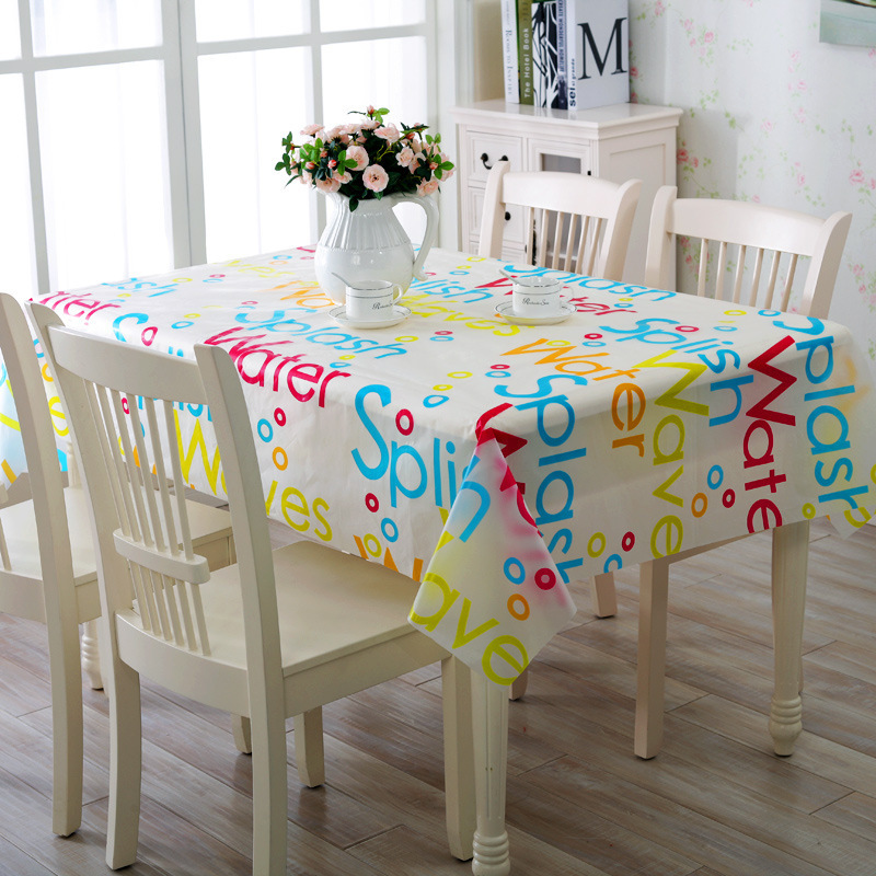 Hot Sale 130*180cm Tablecloth Plastic Table Cloth Waterproof Pvc Tablecloth Coffee Printed Table Cover manteles para mesa(China (Mainland))