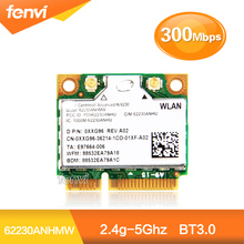 Dual band 300Mbps For Intel 62230ANHMW Advanced-N 6230 2.4Ghz 5GHZ WiFi+BT3.0 Combo half Mini PCI-e Bluetooth Wireless wifi card