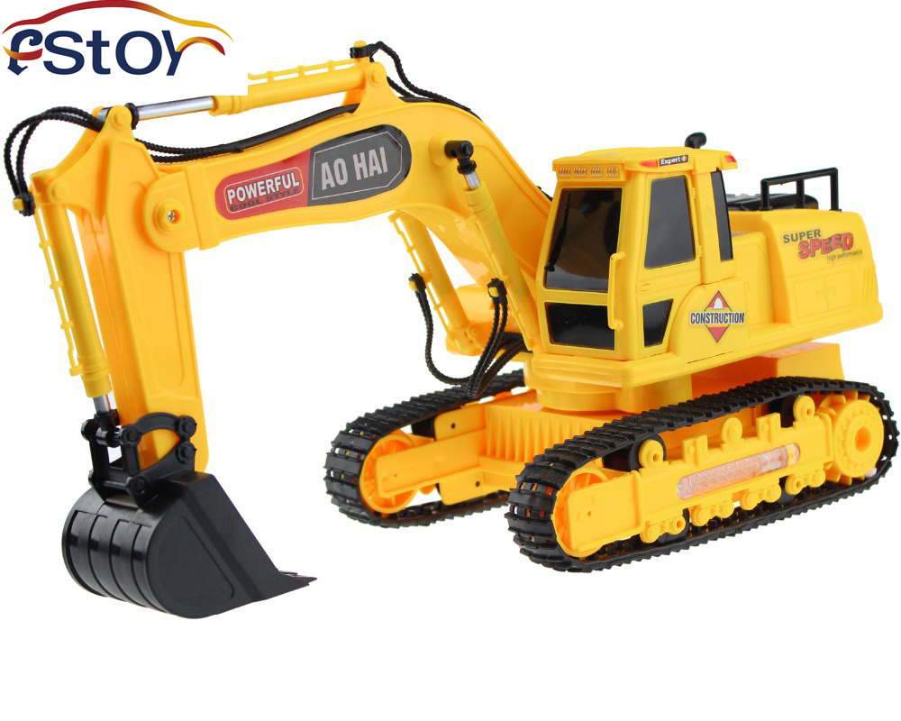 RC Excavator 8 CH digger,r/c excavator,Dig Function light remote control shovelloader Model electronic toy - Shico min's store