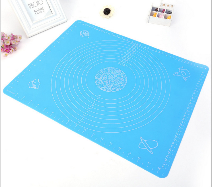 50 40cm Non Stick Silicone Baking Mats Liners Cake Rolling