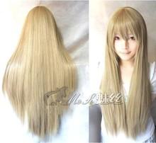 80cm Long Straight heat resisitant ladies white pink fringe Wig,kanekalon synthetic black hair peruca wig,long Cosplay Wig anime(China (Mainland))