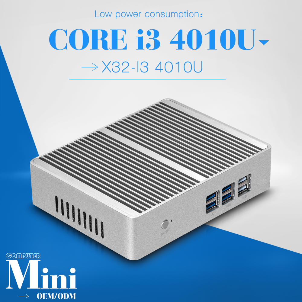 Promotional price x32-i3 2gb ram 128gb ssd mini computer thin client with hdmi fanless industrial pc support HD video(China (Mainland))