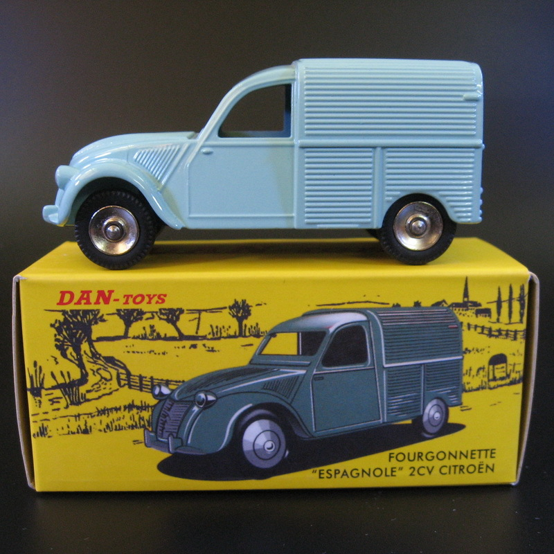 1:43 Dan Toys Citroen 2CV Fourgonnette Espagnole Die Cast Car Model New In Box Free Shipping(China (Mainland))