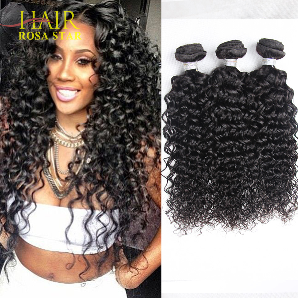 6A Brazilian Deep Wave with Closure Brazillian Curly 100 Cheap Human Hair Weave Bundles Brazilian Curly Virgin Hair With Closure