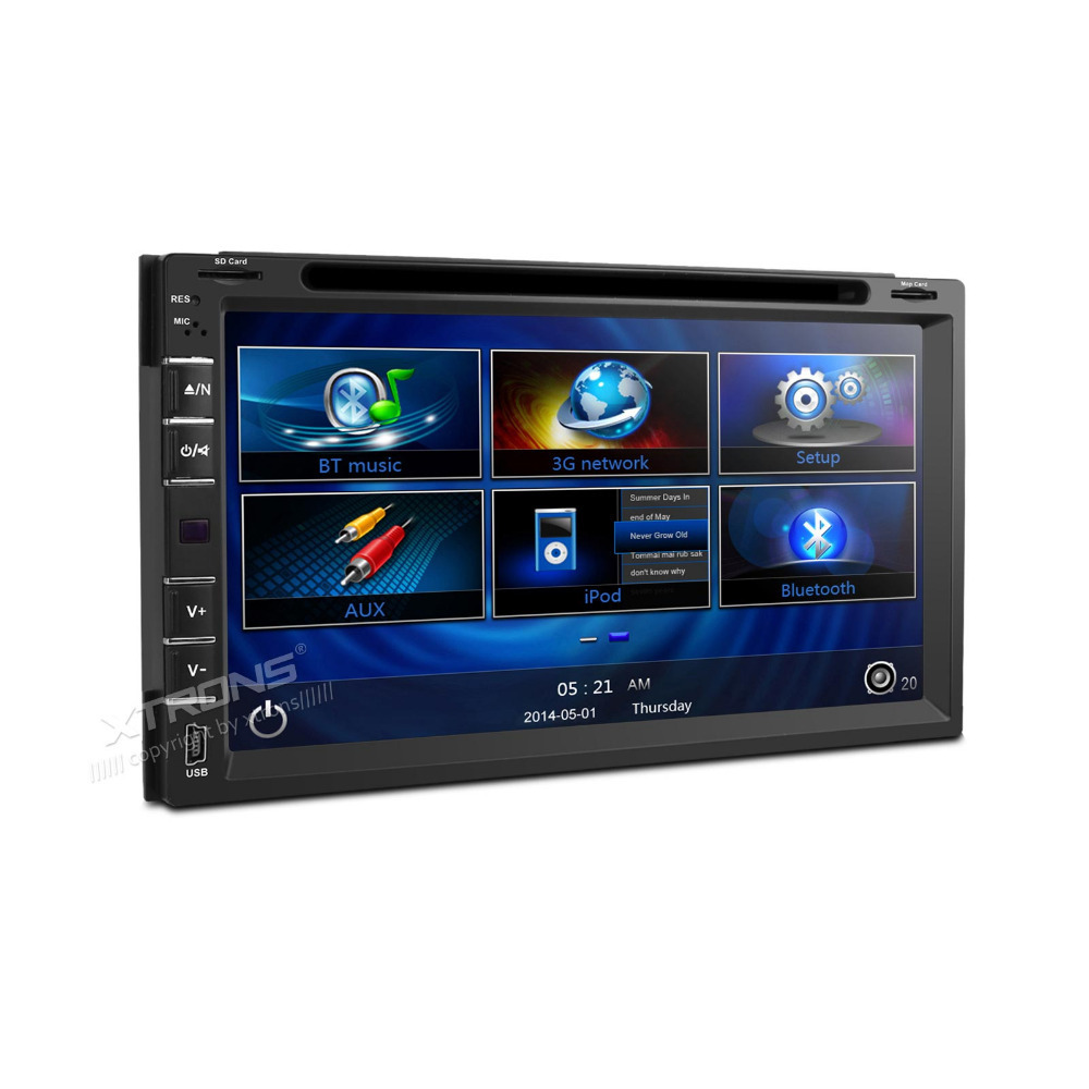 "XTRONS Car Stereo 2 din DVD Player In-Dash GPS Radio 6.95"" HD Screen Stylish UI 3G Bluetooth phonebook(China (Mainland))"