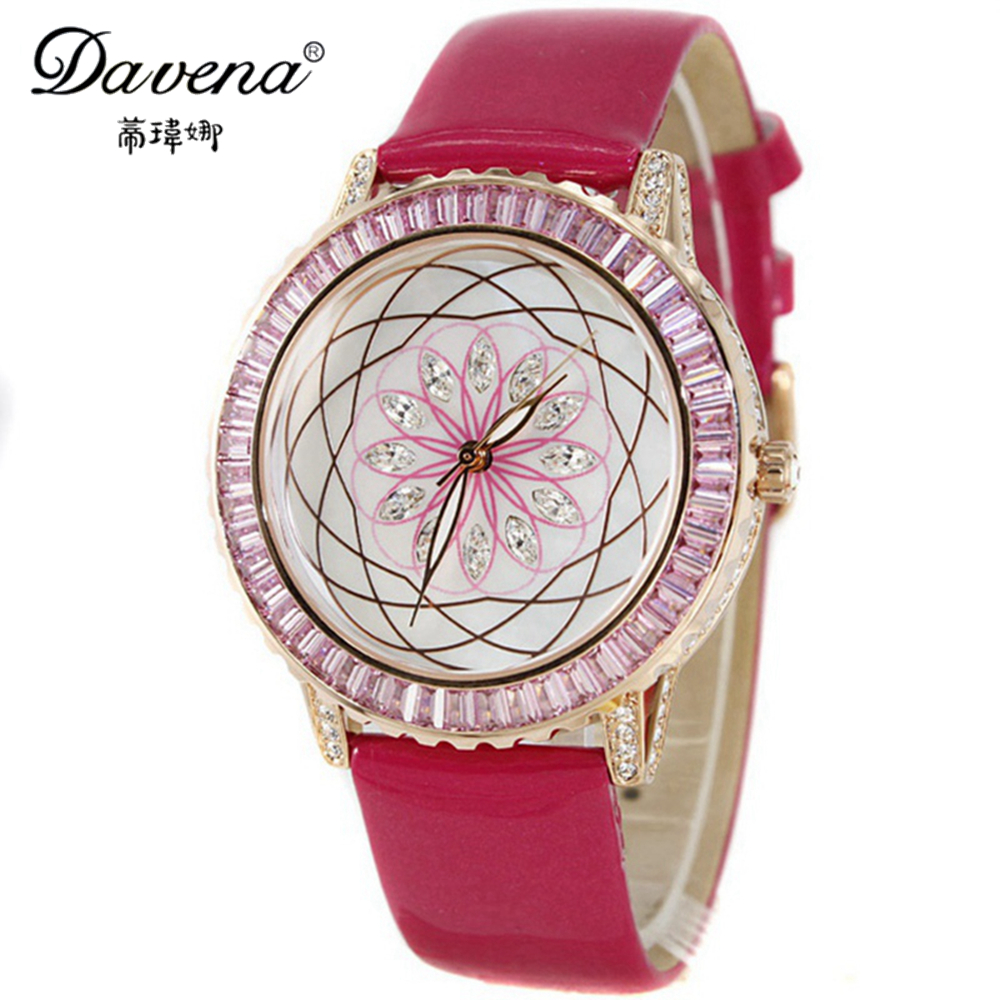Здесь можно купить  2014 New Hot   Davena 30661 women dress watches  fashion quartz watch wholesale Freeshipping 2014 New Hot   Davena 30661 women dress watches  fashion quartz watch wholesale Freeshipping Ювелирные изделия и часы