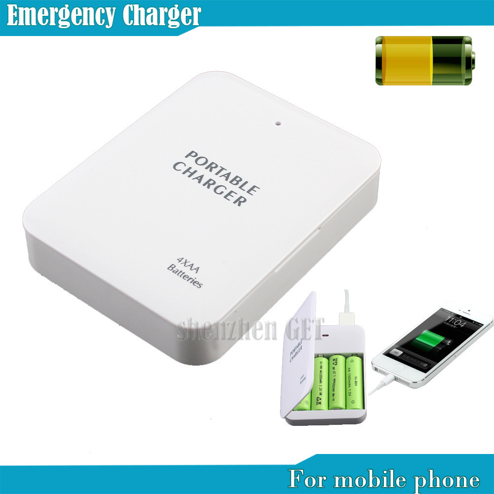 Powerbank Portable 4X AA Battery Travel Emergency USB Power Bank Charger for Mobile Phone Hgih Quanlity Wholesale(China (Mainland))