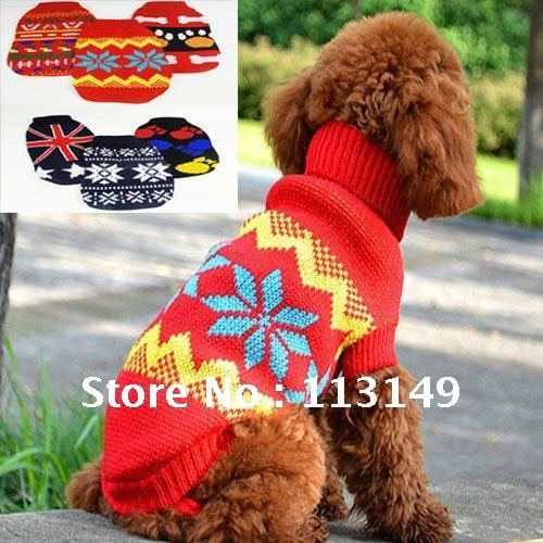 Knitting Patterns Dog Accessories : Aliexpress.com : Buy Free Shipping Winter Puppy Doggie Dog Sweater Knitting P...