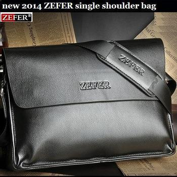 NEW brand men 2015 ZEFER computer bag, casual messenger bag, briefcase, leather bag, 2 color optional,Wholesale and retail