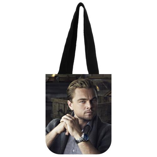 Original Canvas Bag Customized Famous Star Leonardo DiCaprio Tote Bag 03(China (Mainland))
