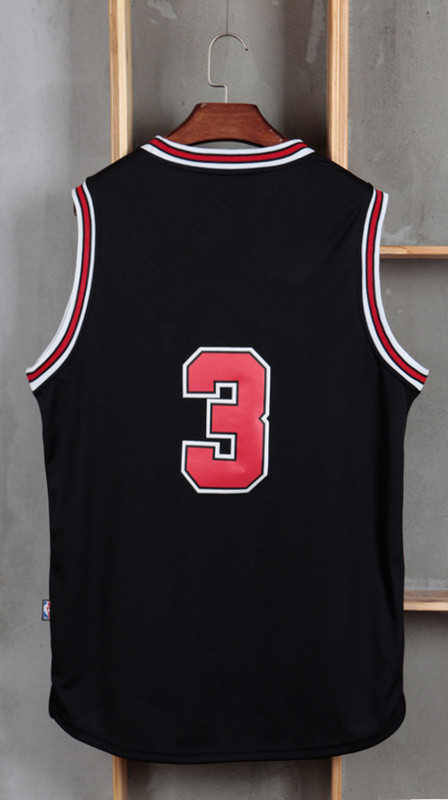 2016 New Men's 3 Dwayne Wade Jersey White Red Black size S~XXL Dwyane Wade Stitched Cheap Basketball Jersey(China (Mainland))