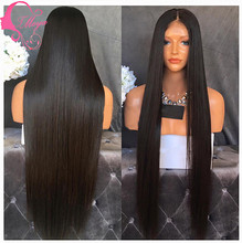 8A grade unprocessed lace front wig glueless silky straight human hair full lace wig for black women brazilian human hair wig(China (Mainland))