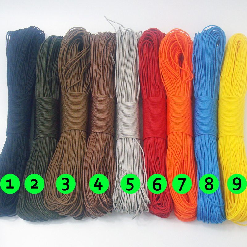 100 Meters Dia. 2mm 3-Strand Cores Paracord Survival Parachute Cord Knife Lanyard Camping Tent Belay Rope Hiking Clothesline - Chargar Store store