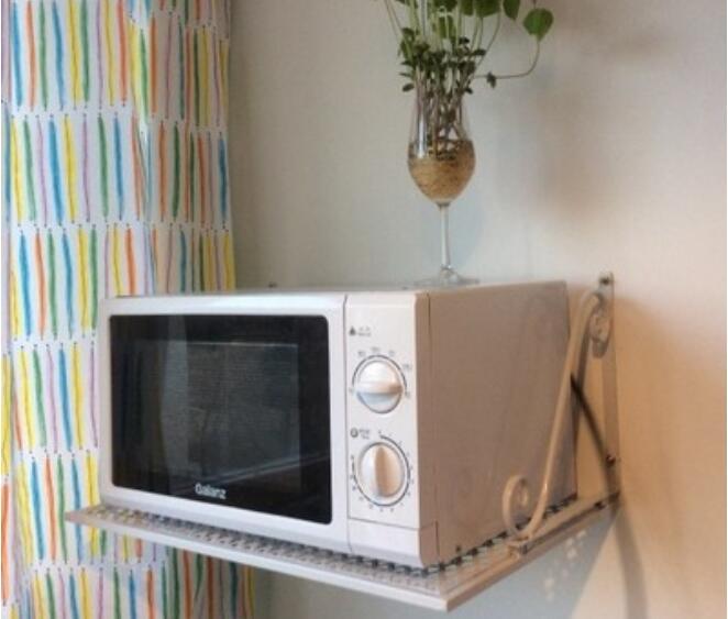Compra de metal estante microondas online al por mayor de - Colgar microondas cocina ...