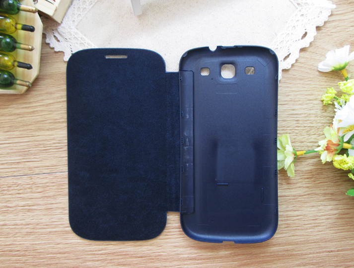Leather Case Flip Cover Original Battery Housing Case Protector Holster Shell For Samsung Galaxy S3 I9300 S3 Neo I9300i S3 Duos(China (Mainland))