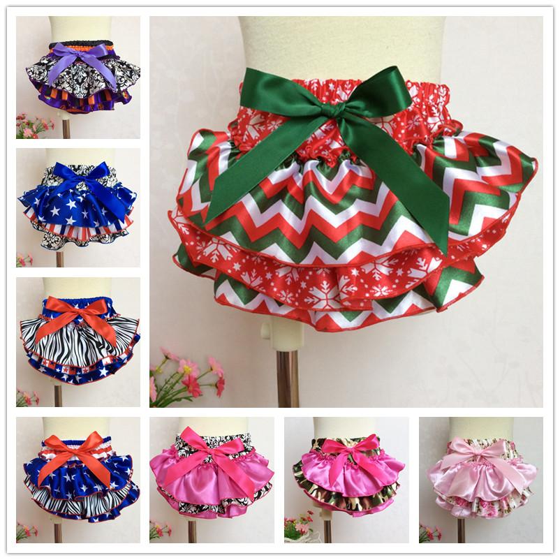 0-3 Years Girls PP Shorts 8 Style Print Baby Ruffle Pants Children Leopard Bowknot Bloomers Skirt Dress Free Shipping(China (Mainland))