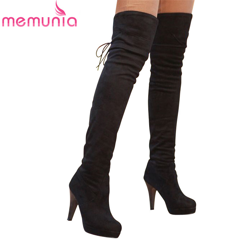 Women Tassel High Heel Suede Over Knee Boots Promotion-Shop for ...