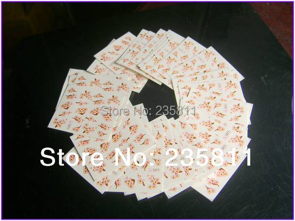 10/ LOT SY Nail Art Water Transfers Stickers Decal Opp Sleeve Packing package 1341-1724 - Jenny's nail beauty store