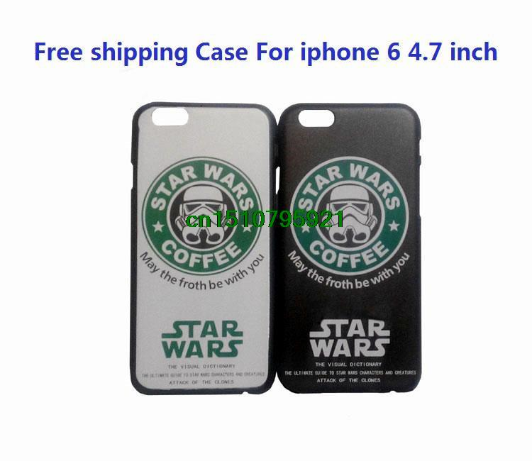 200pcs/lot Fashion Star Wars phone Case For iphone 6 4.7inch High Quality Pc Cases For iphone6 4.7 inch DHL(China (Mainland))