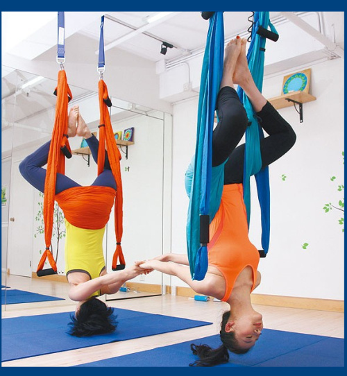 2014  Aerial Yoga Hammock resistance bands pilates band workout Yoga Inversion Swing Trapeze Anti-Gravity Belt Tool Fitness Home