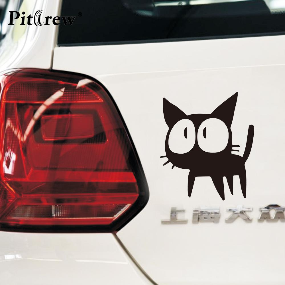 Car sticker design online malaysia - 1pc 12 7 11cm Cafe Kichijoji Black Cat Lovely Animal Car Styling Anime Motorcycle Car Stickers