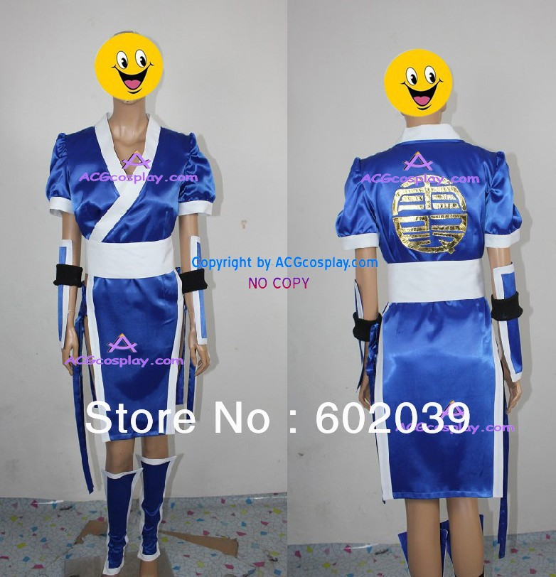 DEAD OR ALIVE kasumi Cosplay Costume blue color GOOD quality ACGcosplay