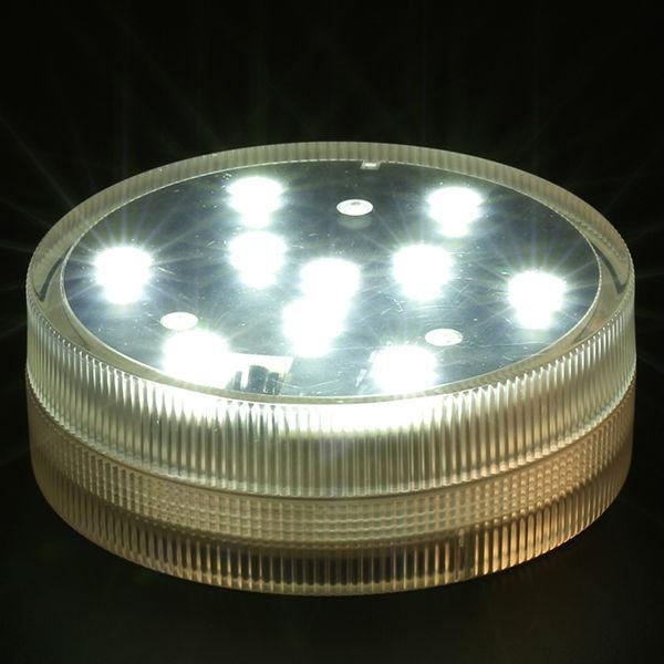 4pcs/Lot 10cm round led light, Glass Hookah's partner, remote controll led light(China (Mainland))