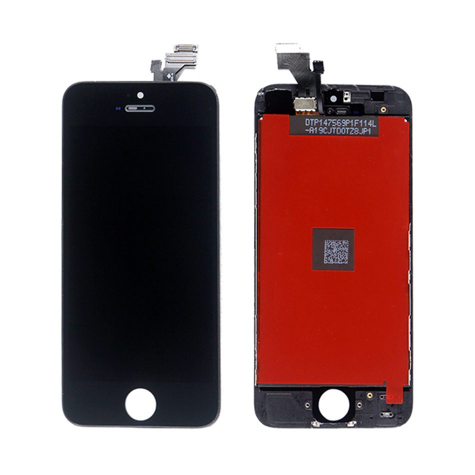 High quality LCD Touch Screen with Digitizer Assembly Replacement For iphone 5 5g Black Color(China (Mainland))