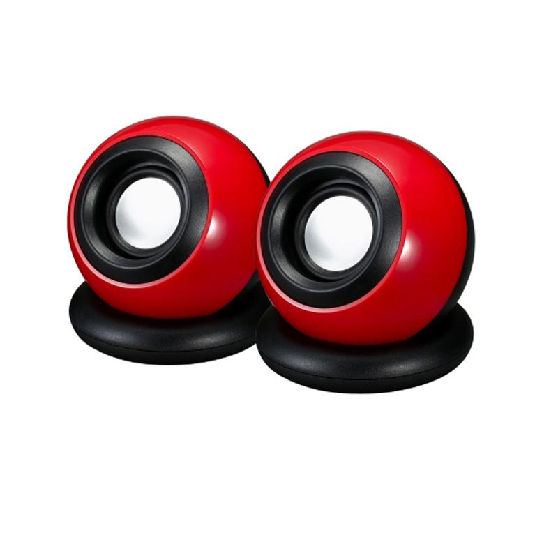One Pair Of USB2.0 Computer Speakers Small Speakers T10 Magic Ball Fashion Portable Mini Speaker(China (Mainland))